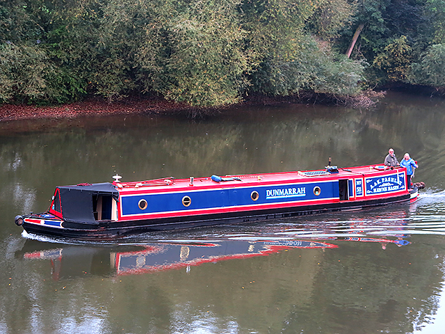 Narrowboat in the River Severn