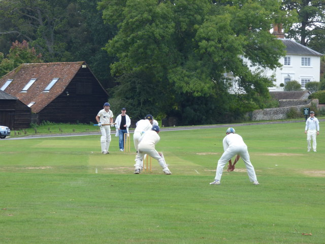 Tilford:  Cricket on the village green