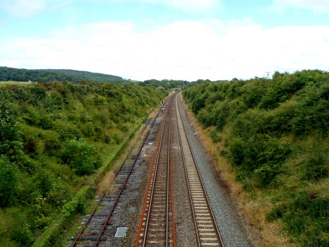 Railway towards the site of Flax Bourton railway station