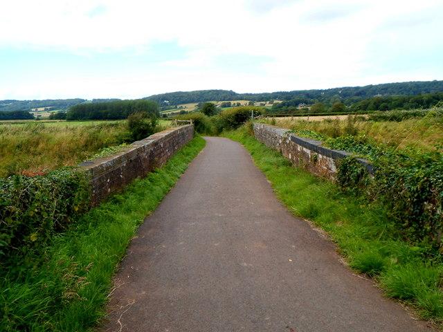 Festival Way crosses a railway bridge, Flax Bourton