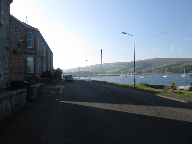 The 'sea road' at Port Bannatyne