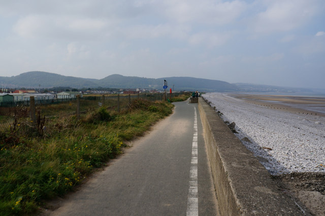 Wales  Coast Path towards Pensarn