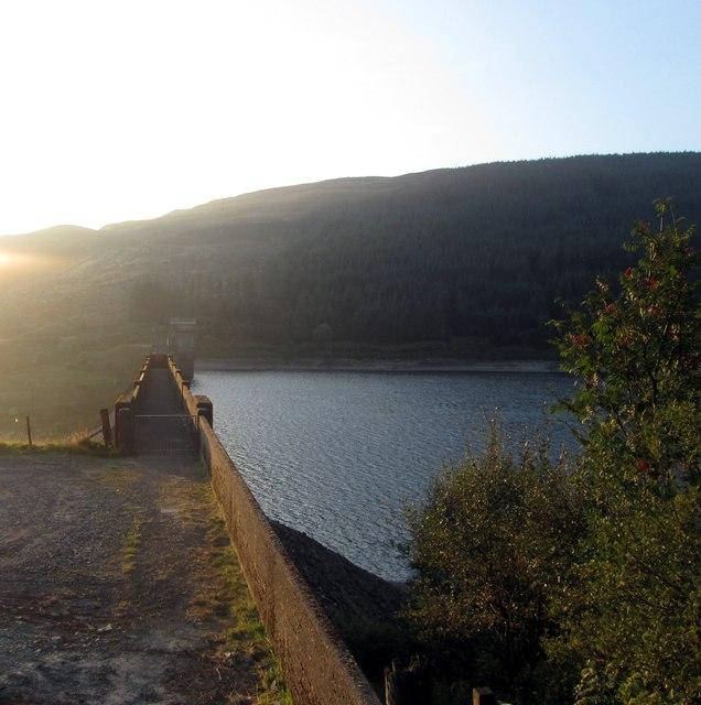Dam at the south of Loch Tarsan
