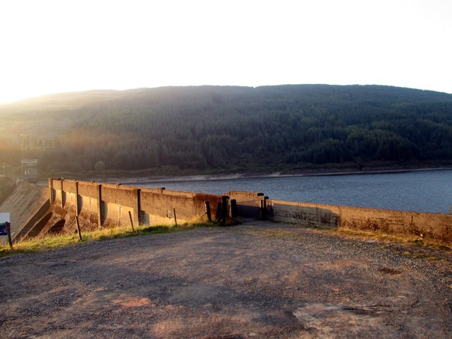 Another view of the reservoir dam on Loch Tarsan