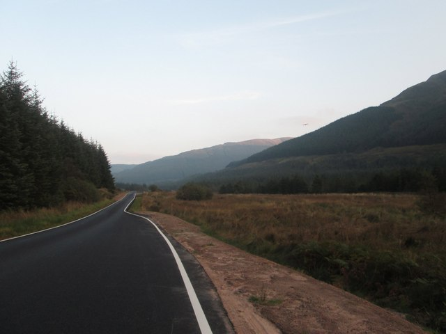 Heading south through Glen Lean on the B836