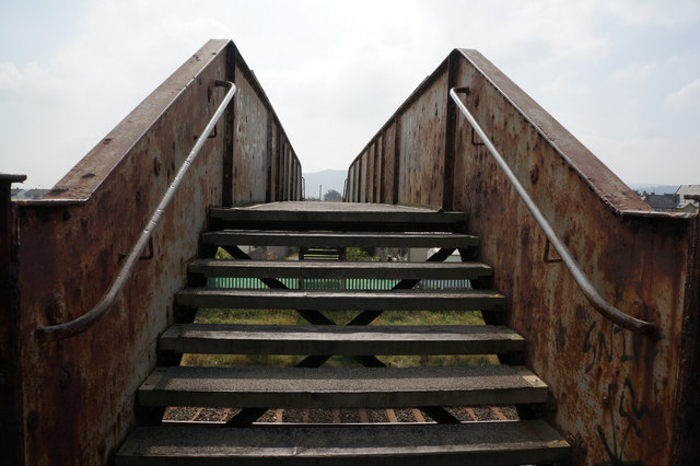 Footbridge at Pensarn