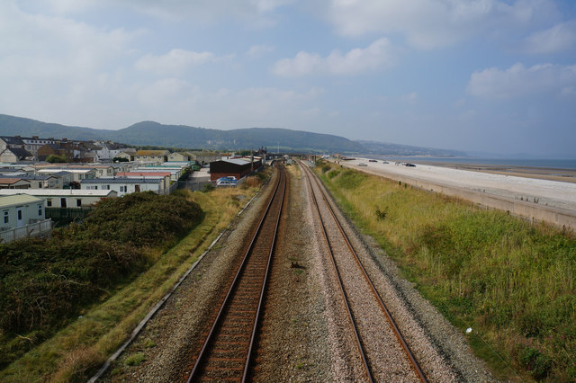 Railway line at Pensarn