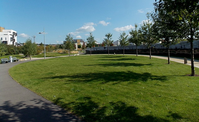 Landscaped area between Usk Way and  East Dock Road, Newport