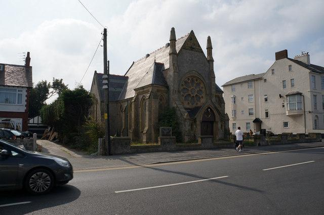 Disused church on Towyn Road, Pensarn
