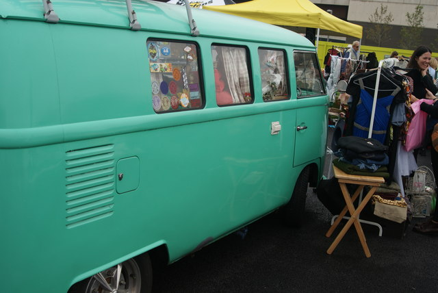 View of a camper van at the Classic Car Boot Sale