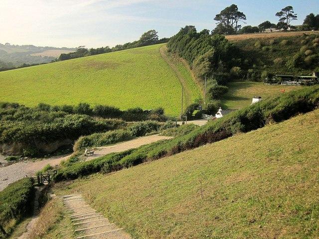 Coast path at Talland Bay