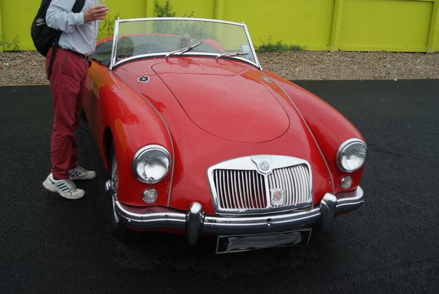 View of an MG MGA convertible from the Classic Car Boot Sale #2