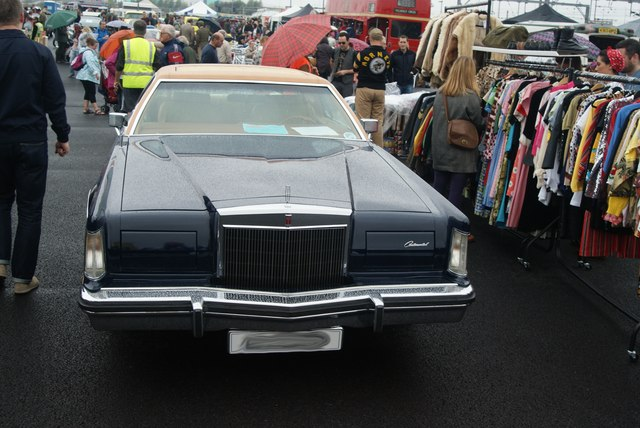 View of an Alvis Continental at the Classic Car Boot Race