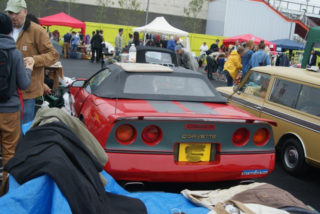 View of a Chevrolet Corvette  in the Classic Car Boot Sale