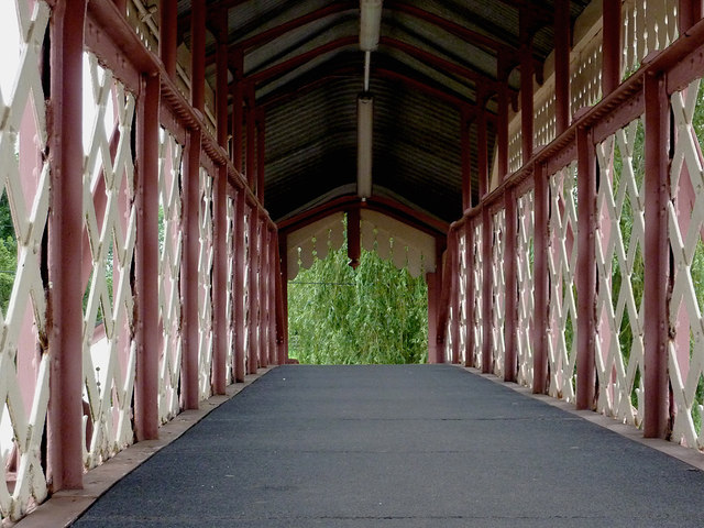 Footbridge at Wilmcote Station, Warwickshire