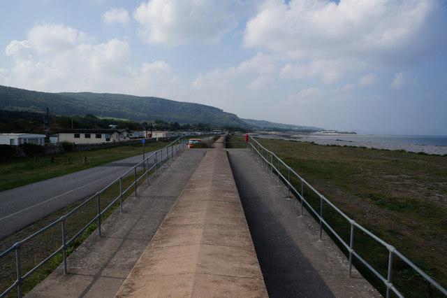Wales  Coast Path towards Llanddulas