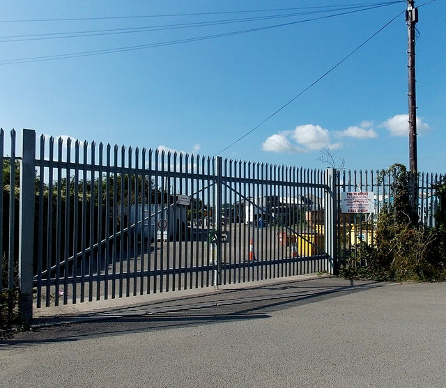 Waste Transfer Station entrance gates, Newport