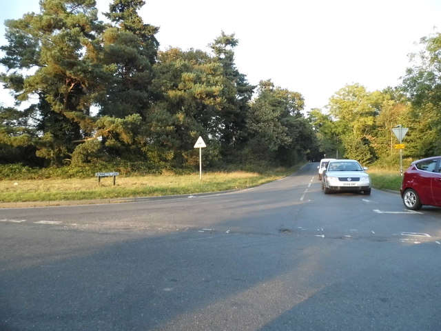 Bonnets Lane at the junction of Charlwood Road