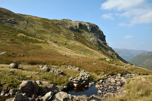 Small sheepfold beside Greenup Gill