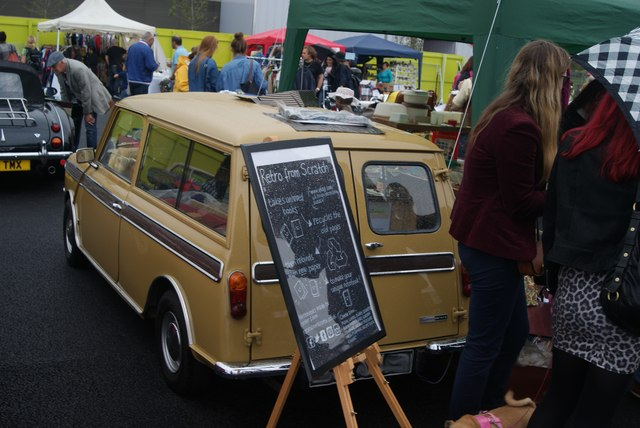 View of a classic van in the Classic Car Boot Sale