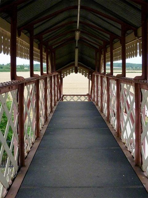 Footbridge at Wilmcote Station, Warwickshire