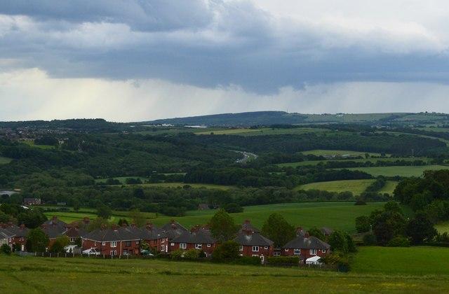 Stormy Spring landscape