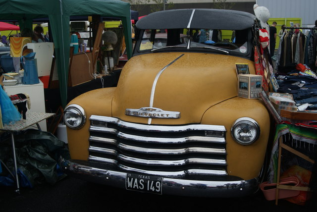 View of a Chevrolet van in the Classic Car Boot Sale