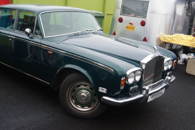 View of a Rolls Royce Silver Shadow in the Classic Car Boot Sale #2
