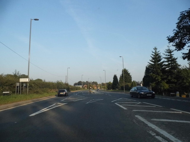 The A25 at the Brockham turnoff
