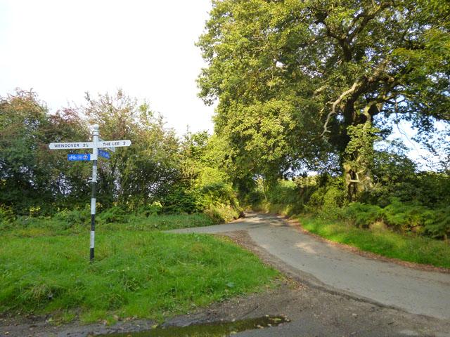 Lane junction near St. Leonards