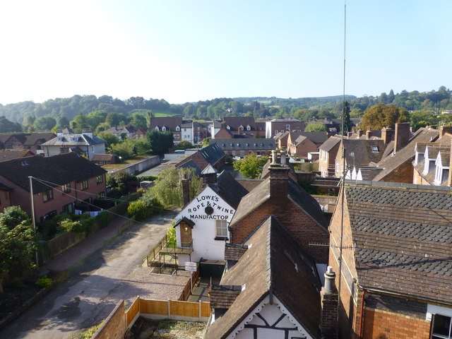 The rooftops of Bewdley from an SVR train