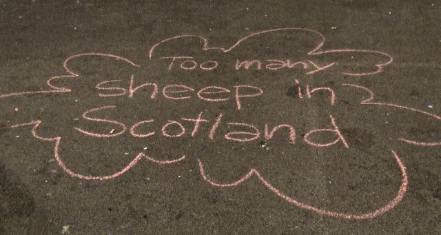Political Graffiti in George Square
