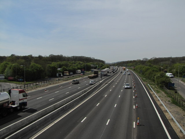 M25 West from Clacket Lane