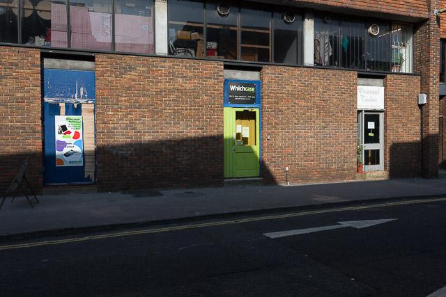Rear entrances to shops in King's Walk