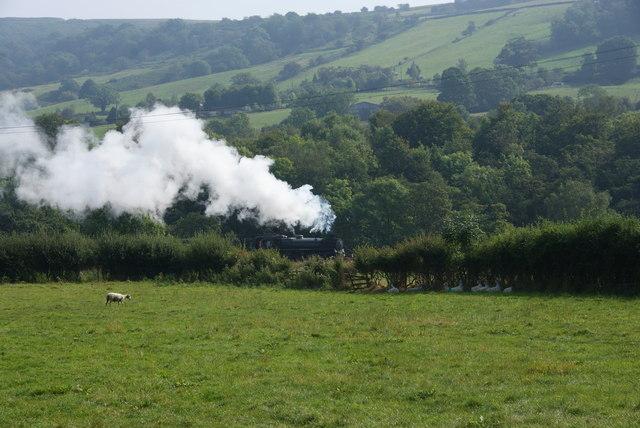 Steam train in Eskdale