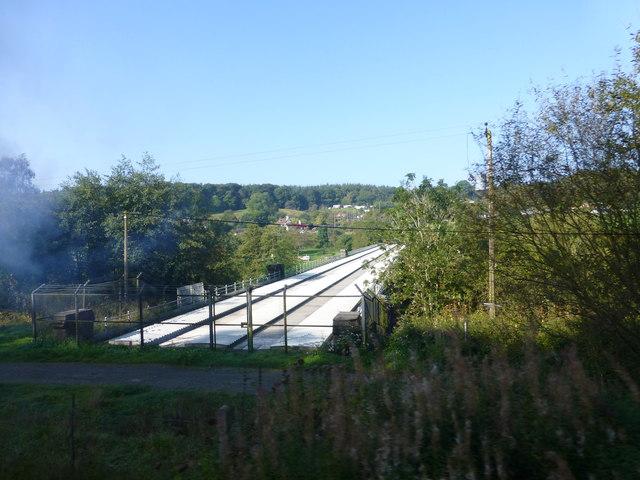 Elan Valley Aqueduct crosses the River Severn