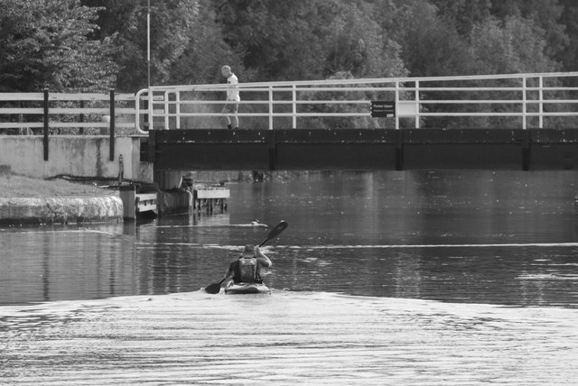 Canoeist at Purton