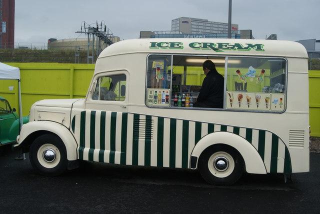 An ice cream van