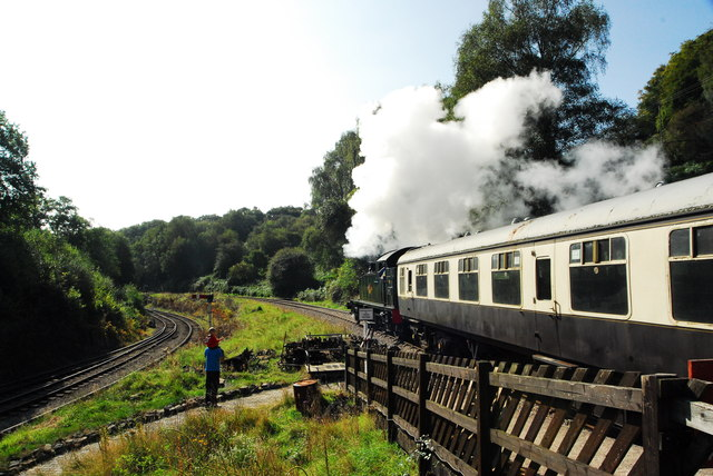 Small boys and steam engines