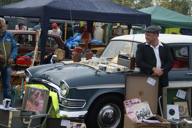 View of a Humber Super Snipe in the Classic Car Boot Sale