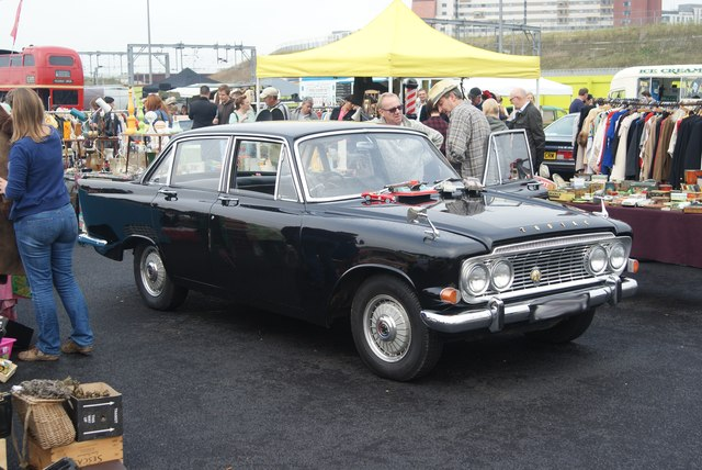 View of a Ford Zephyr Zodiac Mark III in the Classic Car Boot Sale #2