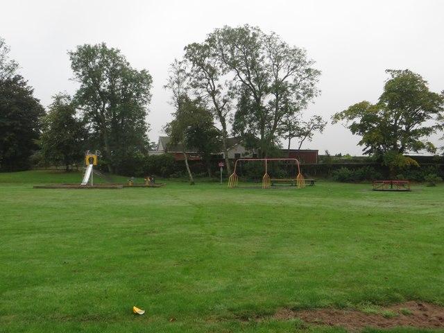 Swings and slides, Duns Public Park