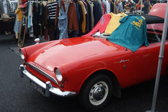 View of a Sunbeam Alpine in the Classic Car Boot Sale #2