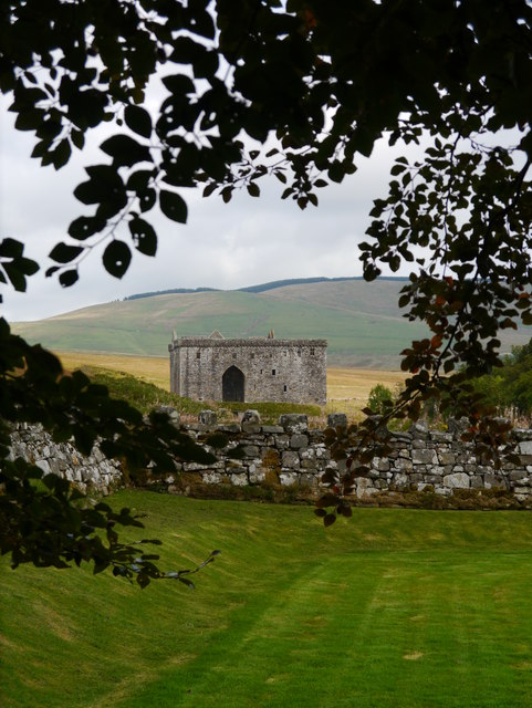 Hermitage Castle From The Chapel Remains