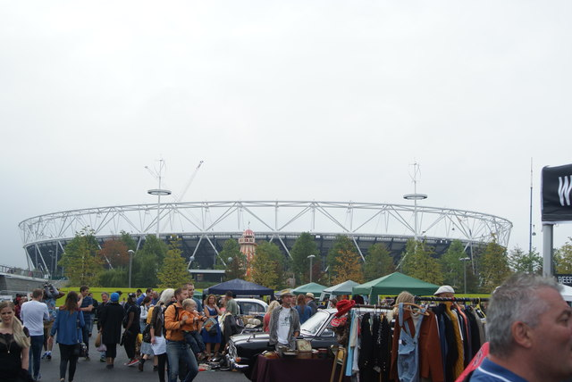 View of the Olympic Stadium from the Classic Car Boot Sale #2