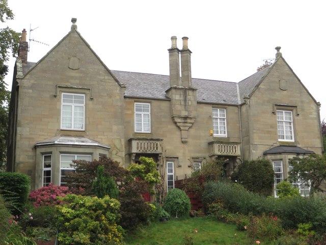 Semi detached stone houses, Langtongate, Duns