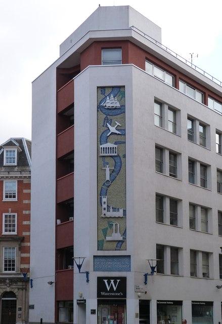 Mosaic mural, London School of Economics