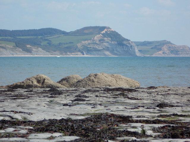 Lyme Regis: some rocky mounds at Broad Ledge