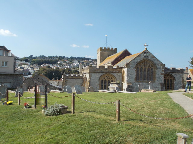 Lyme Regis: the parish church from the east