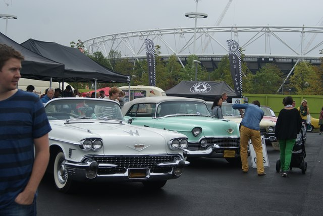 View of the American dream cars in the Classic Car Boot Sale #2